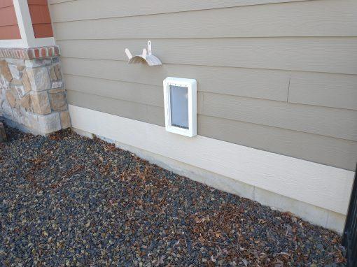Pet Door Installation into Exterior Wall